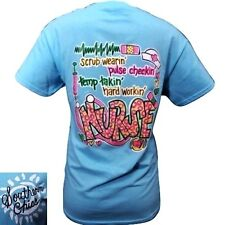 Hot Gift Southern Chics Funny Scrub Wearin Nurse CNA RN Girlie Bright T Shirt