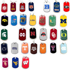 NCAA dog tag necklace Pick your team
