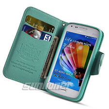 Stand Card Wallet Case Leather with TPU inner for Samsung Galaxy Core GT- i8260