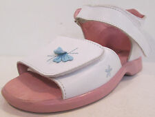 Girls Max&May white leather sandals