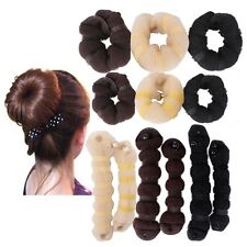 Hot buns 2pcs/set(1 large 1 small) Hair elegant Magic Style bun Maker 3 colors