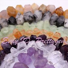 10x15-12x18mm Natural Faceted Freeform Material Gemstone Spacer Beads Strand 15""