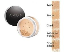 NEW AVON SMOOTH MINERALS CALMING EFFECTS LOOSE POWDER MINERAL + BRUSH FOUNDATION