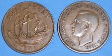 HALFPENNY GEORGE VI 1937-1952 DATE OF YOUR CHOICE ONLY £1.20 EACH FREE UK P&P