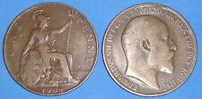 PENNY EDWARD VII 1902-1910 DATE OF YOUR CHOICE ONLY £1.15 EACH WITH FREE UK P&P