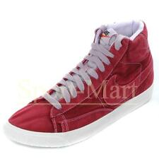 mens Nike Blazer HI Vintage Stonewashed Red Canvas Trainers Mens Size