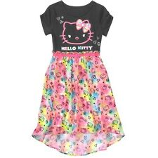 Hello Kitty Summer Short Sleeve Tunic Skirt Dress Girl Size 6/6X 14/16