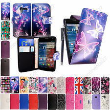 For Motorola Phones Printed PU Leather Magnetic Flip / Book Case Cover +Stylus