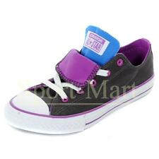 Converse All Star Double Tongue OX Brown Trainers Boys Size