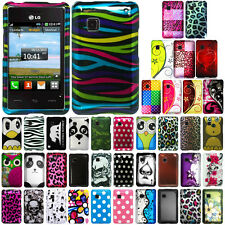 For Tracfone LG 840G Leopard Snap On HARD Case Cover Accessory
