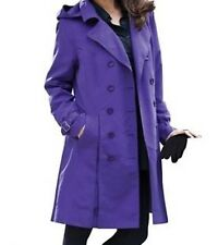 Ladies women's Spring fall winter washable trench coat jacket plus size1X 2X 3X