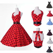 Women's Polka dot Swing Jive 50's 60's Housewife pinup Rockabilly Dresses
