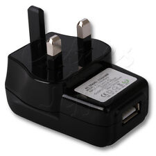 USB PORT 3 PIN UK MAINS WALL PLUG CHARGER ADAPTER ADAPTOR FOR YOUR MOBILE PHONE