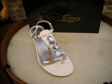 Theme Diane Gilman White Jeweled Thong Sandal NEW