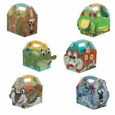 Childrens Kids Tucker Team Birthday Party Box Bag Loot Favour Carry Boxes Food