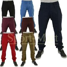 Mens Raiken Double Waist Drop Crotch Regular Fit Chinos Jeans Trousers Mens Size