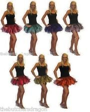 Deluxe Layered Halloween Cyber Tutu Neon Fancy Dress Hen Party Girls Night Out