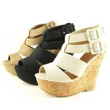 Strappy Wedge Heel Sandals, Women's Shoes, Platforms 6-11US/36.5-42EU/4-9AU