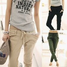 Womens Stretch Candy Pencil Slack Pants Casual Slim Fit Skinny Jeans Trousers