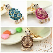 Lovely turtle Keychain bag charm purse keyring full rhinestone cute Gift