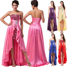 New Beaded Party Prom Dresses Long Strapless Evening Homecoming Bridesmaid Gown