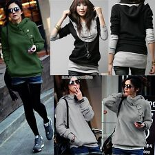 NEW Women Sport Hoodie Jumper Pullover Sweatshirt Sweater Long Coat Mini Dress