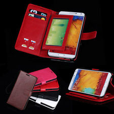 Hot Leather Cover Wallet Stand Case For Samsung Galaxy Note3 III N9000