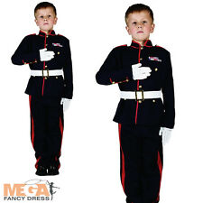 British Military Soldier Costume Kids Armed Forces Boys Army Uniform Fancy Dress