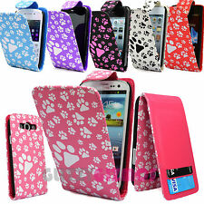 PUPPY KITTEN DOG CAT PRINT PU LEATHER MAGNETIC FLIP CASE COVER FOR MOBILE PHONES