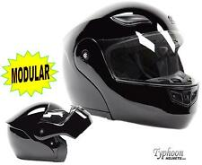 Adult Flip Up Modular Full Face Motorcycle Helmet DOT Gloss Black