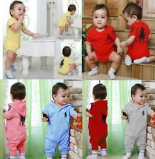 Baby Boys Girls Infant Nerwborn Rompers Polo Onesies Bodysuits Size 6-24 Months