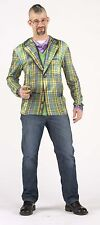 Faux Real Plaid Sport Coat Costume Adult Long Sleeve T-Shirt Tee