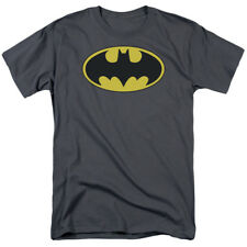 Batman Classic Bat Logo Gray DC Comics Superhero T-Shirt Tee