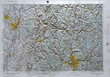 ALBANY REGIONAL Raised Relief Map in NY, CT, MA, NH & VT