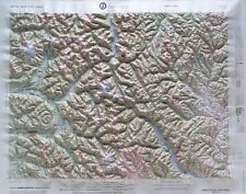 CONCRETE REGIONAL Raised Relief Map in the state of WA