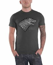 Game Of Thrones House Stark Logo Official Mens New Grey T Shirt All Sizes