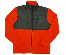 Men's IZOD Full Zip Polar Fleece Jacket, Orange with Full Breast Trim