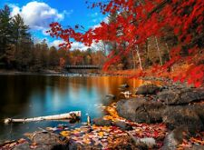 Fall time Lake nature scenery Home room decor poster PERSONALIZED FREE