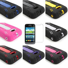 Samsung Galaxy Victory 4G LTE L300 Hybrid Hard Case Cover w/Kick Stand+Screen