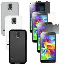 TPU SKIN CASE PROTECTOR COVER WITH SCREEN GUARD FOR SAMSUNG GALAXY S5 SM G900