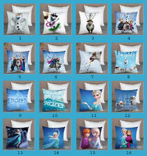 Disney Frozen Elsa Anna Olaf Hans Sven Pillow Case Cover Sofa Car Bed Cushion