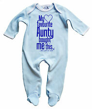 Dirty Fingers Baby Boy Sleepsuit Baby grow Onesie My Favourite Aunty Cool Auntie