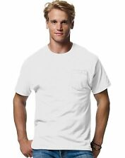 Hanes TAGLESS EcoSmart Mens Pocket T-Shirt - style 5177