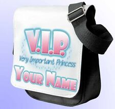 VIP VERY IMPORTANT PRINCESS PERSONALISED SHOULDER/HAND BAG *Choice of 3 colour's