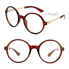 Trendy Vintage Inspired Large Oversize Round Circle Clear Lens Glasses 4 Colors