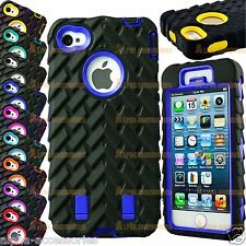 Tyre Grain Heavy Duty Hybrid Shock Proof Case Cover For Apple iPhone 5S, 5, SE