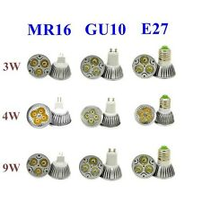 GU10 MR16 E27 3W 4W 9W LED High Power Warm Cool White Spot Light Lamp Bulb CREE