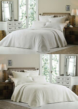 FRENCH VINTAGE BEDSPREAD SET Luxury Quilted Ashley Bed Spread Embroidered Throw