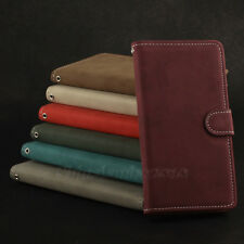 New For Samsung Galaxy S5 SV i9600 Magnetic Matte Leather Flip Wallet Case Cover