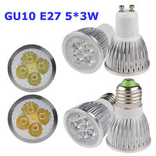 GU10/E27 15W Power Energy Saving Warm Cool White LED Down Lamp Spot Bulb Light